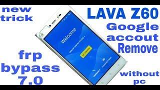 Lava z60 frp unlock without PC 100% - Kisan Technical Guru