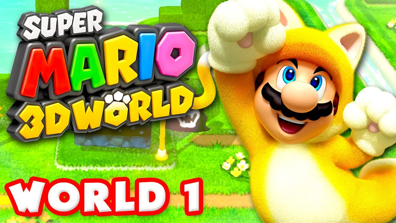 mario 3d world walkthrough part 1 world 1 100