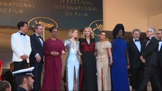 Cannes: Jury arrives for closing ceremony