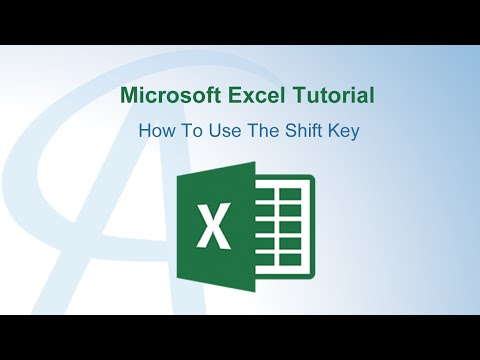 How To Use The Shift Key In Excel