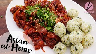 Korean Spicy Chicken & Rice Balls Buldak & Jumukbap
