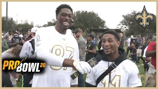 Jared Cook's Interviews Deonte Harris at the 2020 Pro Bowl | New Orleans Saints