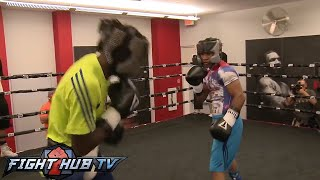 TERENCE CRAWFORD VS. YURIORKIS GAMBOA - FULL SPARRING SESSION