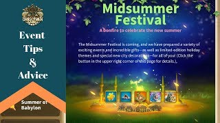 Midsummer Festival Event! Best recommendations to maximize for f2p and spenders - RoK