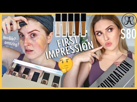 """new fav""""! ? ABH Luminous Foundation (tested over 12 hours) FIRST IMPRESSION"""