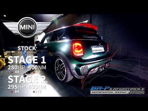 Mini Cooper F56 S 2.0T JCW Stage 1 & 2 With pops & bangs By BR-Performance