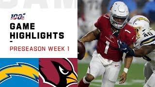 Chargers vs. Cardinals Preseason Week 1 Highlights | NFL 2019