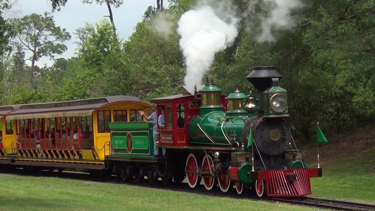 disney walt steam magic kingdom railroad train trains