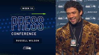 Russell Wilson Postgame Press Conference at 49ers   2019 Seattle Seahawks