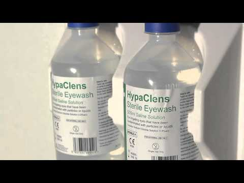 HypaClean HypaClens Eyewash Station with 2 HypaClens Eyewash Bottles (500ml)