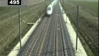 The world's fastest train, Circling a 574.8 KM / H TGV