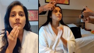 Watch: Anchor Rashmi Gautam pre-makeup routine..