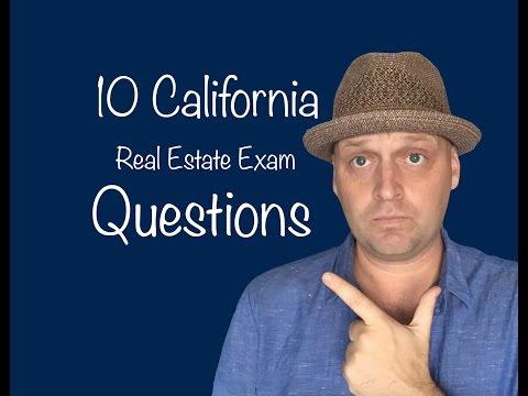 Top 10 California Real Estate Exam Questions