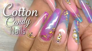 Cotton Candy Nails | Hard/Builder Gel Nail Tutorial | Custom Color Gels