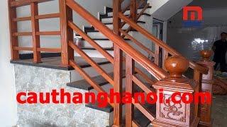 Thi công lắp đặt cầu thang gỗ Lim tại Thái Bình