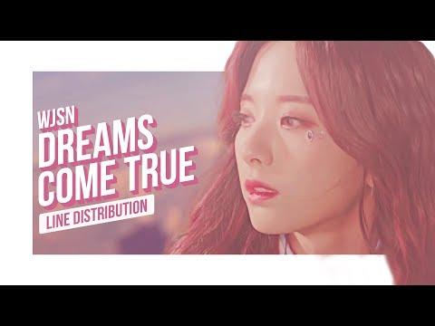 WJSN - Dreams Come True Line Distribution (Color Coded)   우주소녀 - 꿈꾸는 마음으로