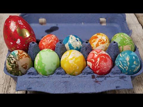 Farbanje jaja bojama za kolače
