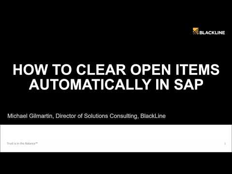 Open Item Management: How to Clear Open Items in SAP Automatically
