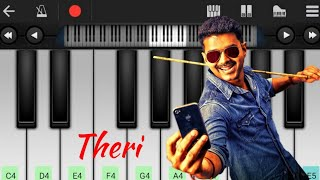 Theri Theme |  tutorial | BGM | Piano notes | My Piano