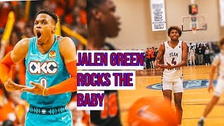 Jalen Green RISES ON DEFENDER!! Drops 32 While Rocking His Defender To Sleep