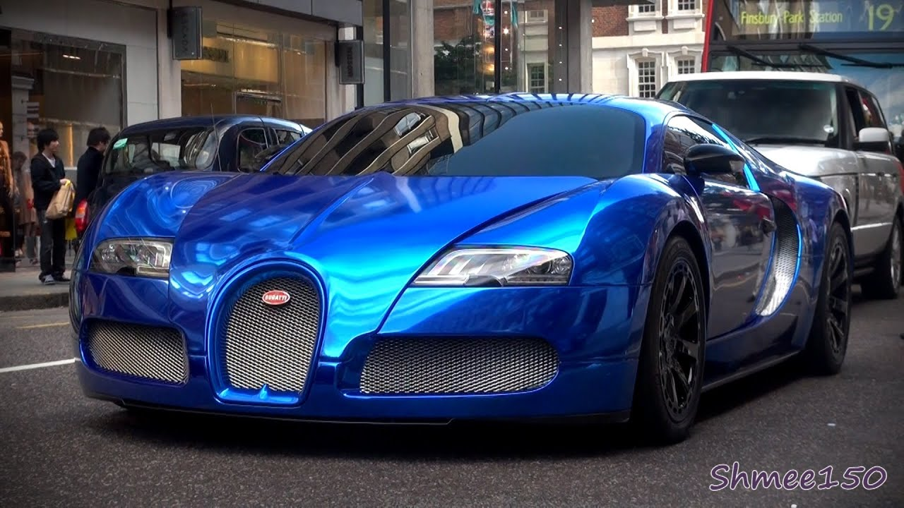 Blue Bugatti Veyron: BLUE CHROME Bugatti Veyron Centenaire