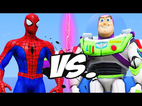 SPIDER-MAN VS BUZZ LIGHTYEAR - EPIC BATTLE