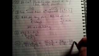 Algebra 1 Chapter 1 Mid-Chapter Quiz Review - YouTube