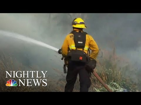 More Than 4,000 Firefighters Battling Wildfires In Santa Barbara County | NBC Nightly News