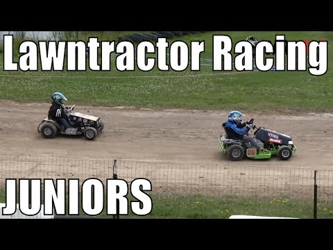 Junior Class Lawntractor Racing At Western Ontario Outlaws July 21 2019