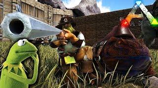 TAMEO A LA RANA GUSTAVO! Y NUESTRO PRIMER SARCO!! LOCURAS DE ARK! #2 Ark: Survival Evolved