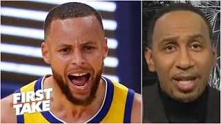 Stephen A. goes wild picturing Stephen Curry dominating the playoffs | First Take