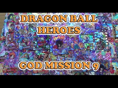 Dragon Ball Heroes GDM9 God Mission 9 Common Rare Super Rare & Campaign Promo Set 66 Cards Unboxing
