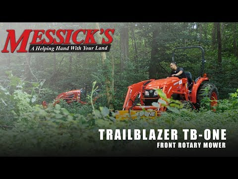 Mowing an open field with a front-mount rotary cutter | TrailBlazer TB-ONE Picture