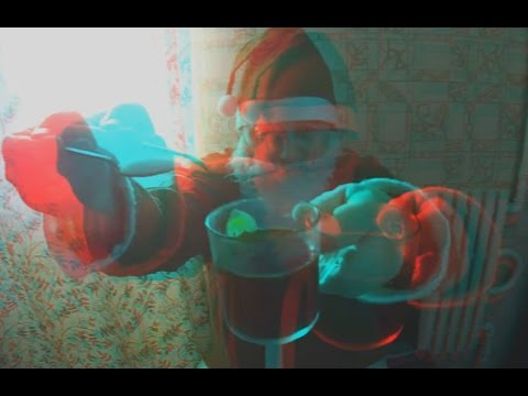 3D video !Santa Claus invites You for coffee 3D ! Christmas is coming !