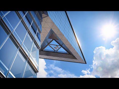 Edge sky deck protrudes from supertall New York skyscraper