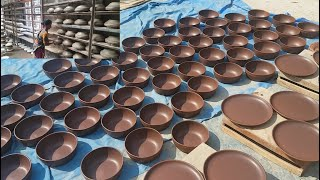 Pottery Factory   Modern Pottery Clay Work By Women   Fast & Perfect Cookware Making