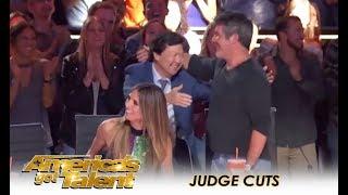 Simon Cowell Welcomes Comedian Ken Jeong As Guest Judge | America's Got Talent 2018