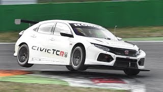 New Honda Civic Type-R WTCR 2018 Testing on Track! Accelerations, Fly Bys  Sound