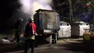 NRWspot.de | Kamen – Geht die Brandserie weiter? Containerbrand in der Fritz-Erler-Straße