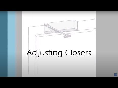 How To Adjust Standard Door Closers