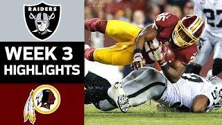 Raiders vs. Redskins | NFL Week 3 Game Highlights