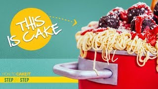 How To Make Spaghetti & Meatballs out of CAKE   Step By Step   How To Cake It   Yolanda Gampp