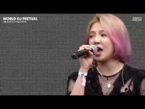 180527 Hyoyeon cut -  'Sober Remix' with Advanced at 2018 World DJ Festival @ Jamsil Olympic Stadium