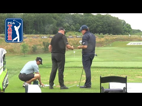 Phil Mickelson's range session for the Travelers Championship 2019