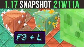Minecraft 1.17 Snapshot 21w11a Quality Of Life Changes & In-Game Metric Reporting