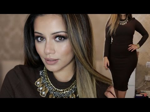 Clubbing Get Ready With Me // Brown Toned Makeup | Kaushal Beauty