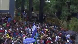 Migrants Break Through Guatemala-Mexico Border Gate, Despite Trump's Threats Of Retaliation