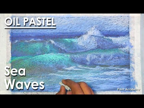 Creating Sea Waves into Oil Pastel | step by step Seascape Pastel Drawing