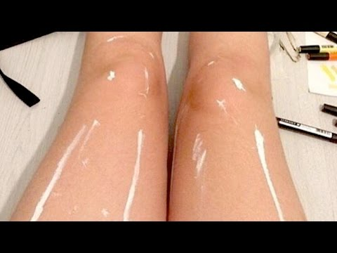 Are These Legs SHINY Or An Optical Illusion? | What's Trending Now