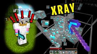 Trolling my minecraft friend with xray